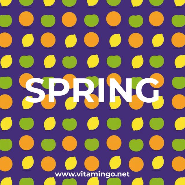 Plantilla de diseño de Blinking Citrus Fruits Animated Post