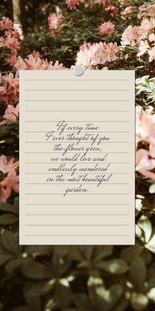 Plantilla de diseño de Love Quote with floral Garden Graphic