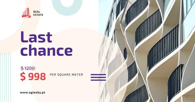 Real Estate Offer Building White Facade Facebook AD – шаблон для дизайну