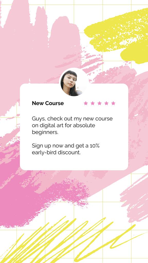 Plantilla de diseño de Digital Courses with young girl Instagram Story