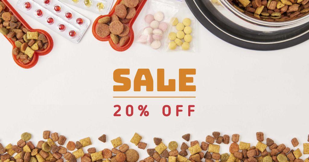 Modèle de visuel Pets Nutrition Discount Sale Offer - Facebook AD