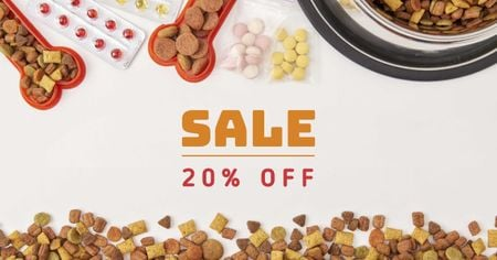 Pets Nutrition Discount Sale Offer Facebook ADデザインテンプレート