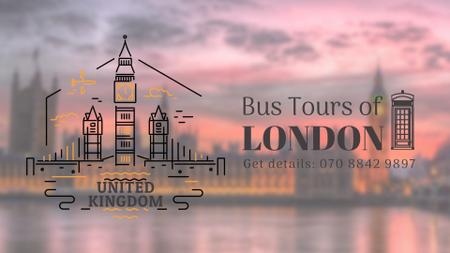 Tour Invitation with London Famous Travelling Spot Full HD videoデザインテンプレート