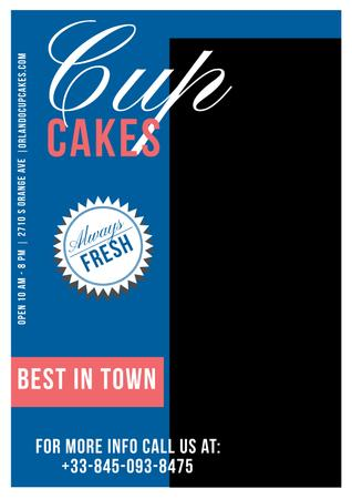 Template di design Cupcakes cafe Offer Poster