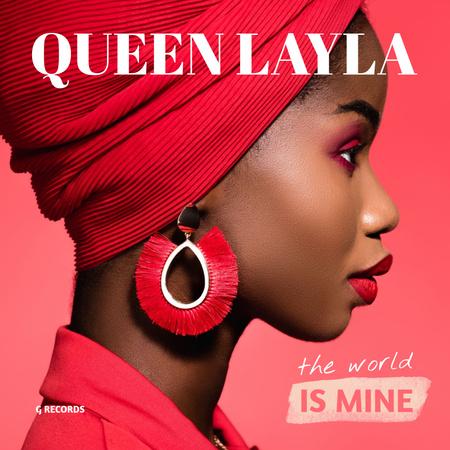 Modèle de visuel Beautiful Woman in Stylish Earrings - Album Cover