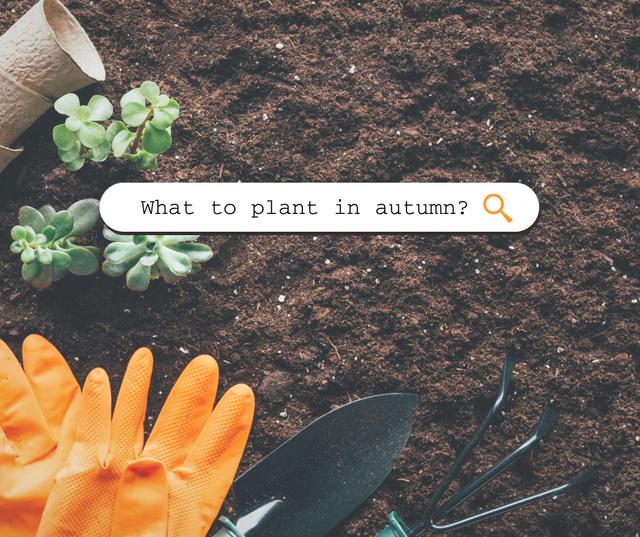 Autumn Inspiration with Fresh Soil Facebook Design Template