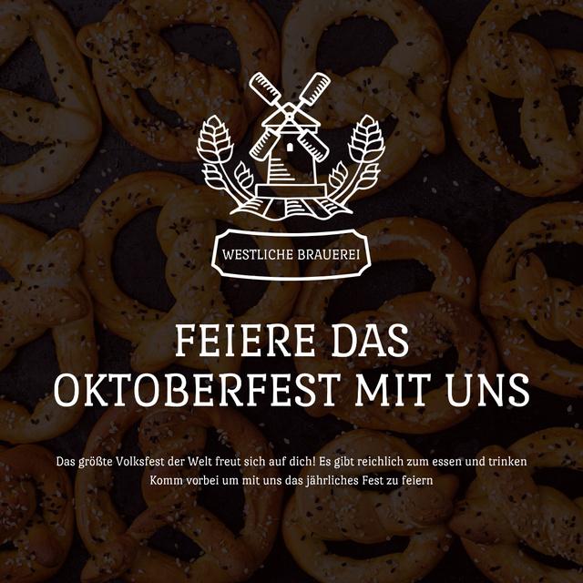 Oktoberfest Offer with Pretzels with Sesame Animated Post – шаблон для дизайну
