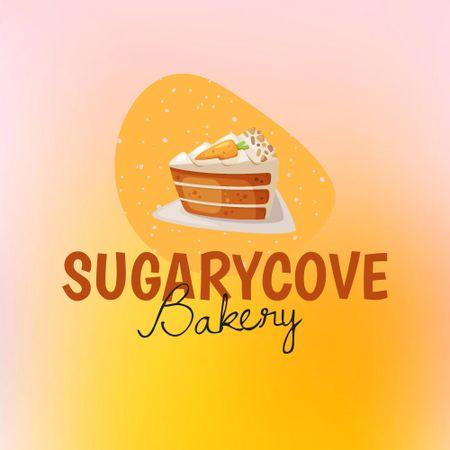 Plantilla de diseño de Bakery Offer with Yummy Piece of Cake Logo