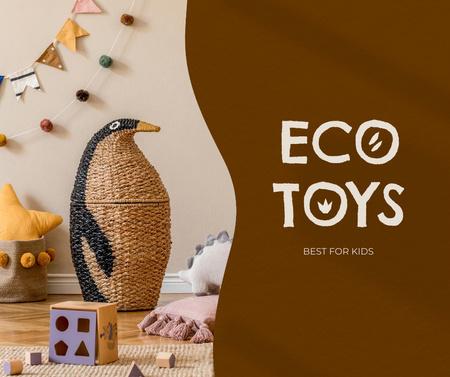 Plantilla de diseño de Eco Toys Sale Offer Facebook