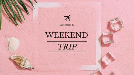 Plantilla de diseño de Travel Tour Ad Shells on Sand FB event cover