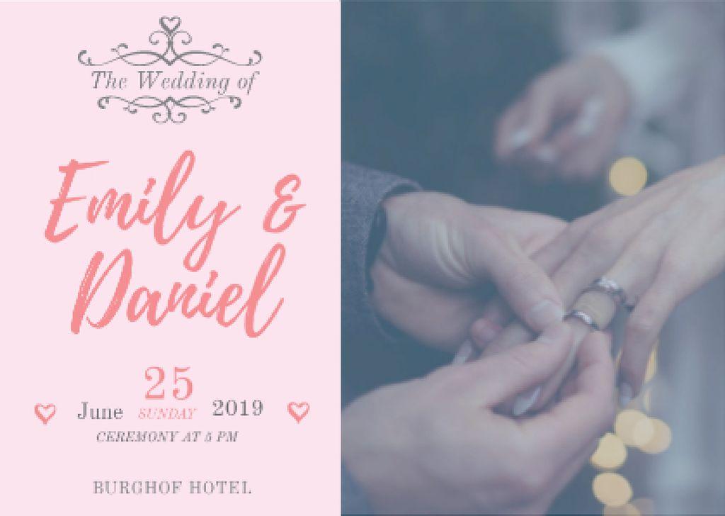 Wedding Invitation with Couple at Wedding Ceremony — Créer un visuel