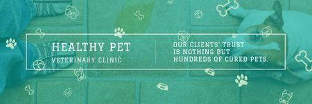 Healthy pet veterinary clinic Email header Modelo de Design