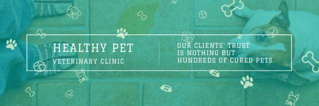 Ontwerpsjabloon van Email header van Healthy pet veterinary clinic