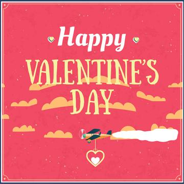 Plane carrying Valentine's Day Heart