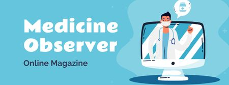 Plantilla de diseño de Online Medical magazine Facebook cover