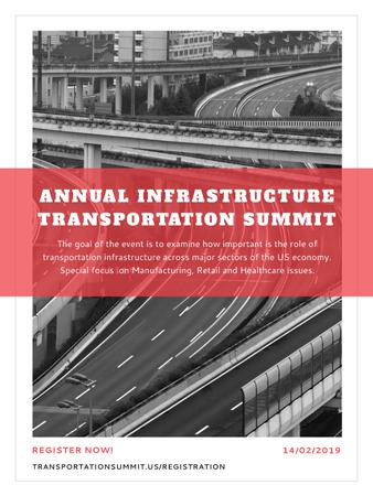 Annual infrastructure transportation summit Poster USデザインテンプレート