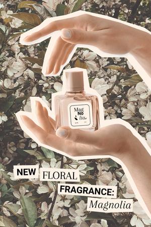 New Floral Fragrance Ad Pinterest – шаблон для дизайна