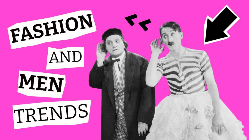 Ontwerpsjabloon van Youtube Thumbnail van Funny Fashion Trends with Men in Ridiculous Outfits