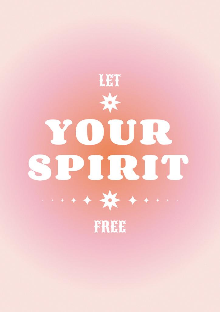 Designvorlage Astrological Inspirational Phrase on pink für Poster
