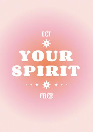 Modèle de visuel Astrological Inspirational Phrase on pink - Poster