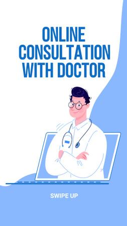 Plantilla de diseño de Online Medical Support Instagram Story