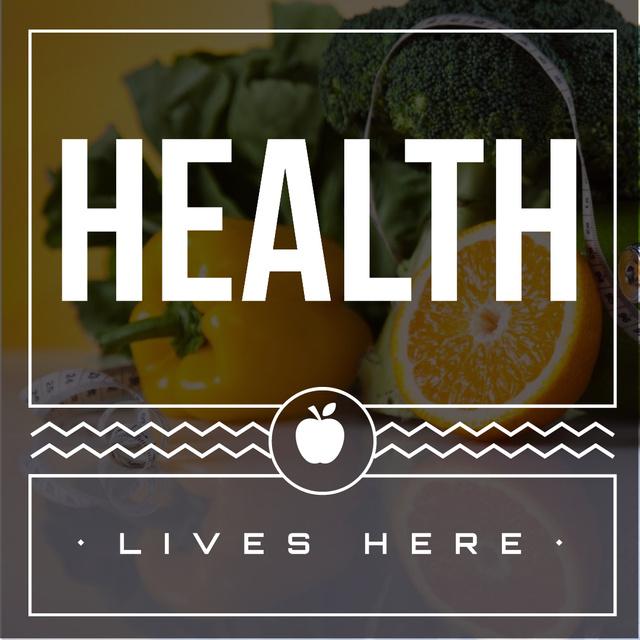 Healthy nutrition Concept Instagram – шаблон для дизайна