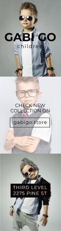 Gabi Go children clothing store Skyscraper Design Template