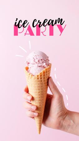 Ice Cream Party Announcement Instagram Storyデザインテンプレート