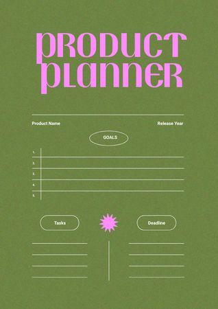 Platilla de diseño Product Planning with Tasks and Deadlines Schedule Planner