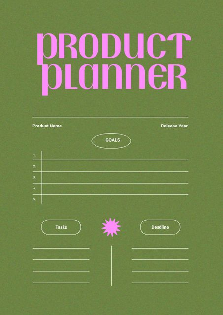 Product Planning with Tasks and Deadlines Schedule Planner – шаблон для дизайна