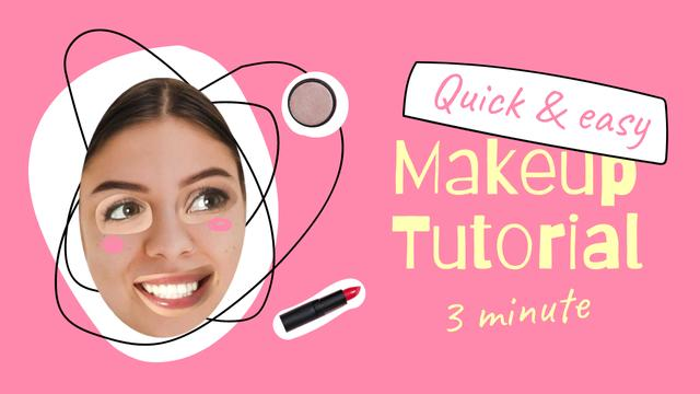 Template di design Beauty Blog Promotion with Funny Woman's Face Youtube Thumbnail