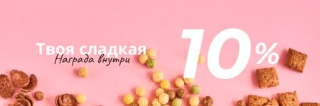 Cereals Offer in pink Email header – шаблон для дизайна