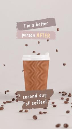 Aromatic Coffee in Cup Instagram Story Modelo de Design