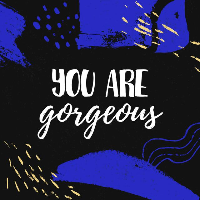 Modèle de visuel Beauty Inspiration quote - Instagram