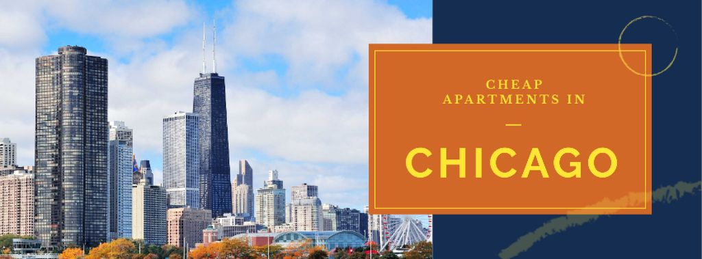 Apartments Offer with Chicago city view — Создать дизайн