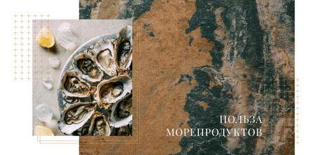Fresh oysters on plate Image – шаблон для дизайна