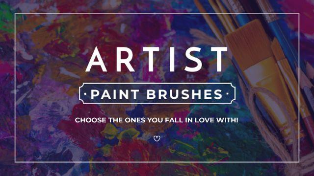 Art Equipment Sale with Brushes Title – шаблон для дизайна