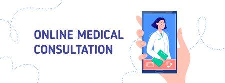 Online Medical consultation Facebook coverデザインテンプレート