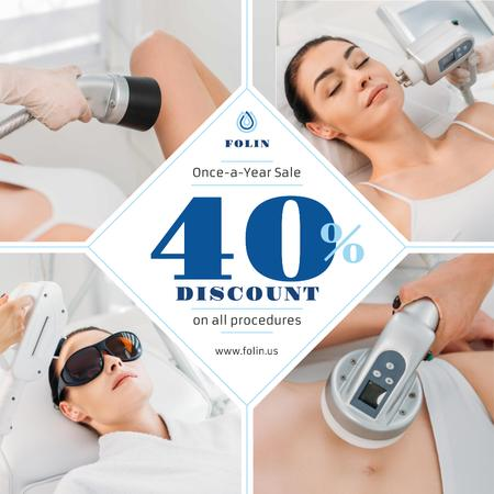 Salon Offer Woman at Laser Hair Removal Instagram Modelo de Design