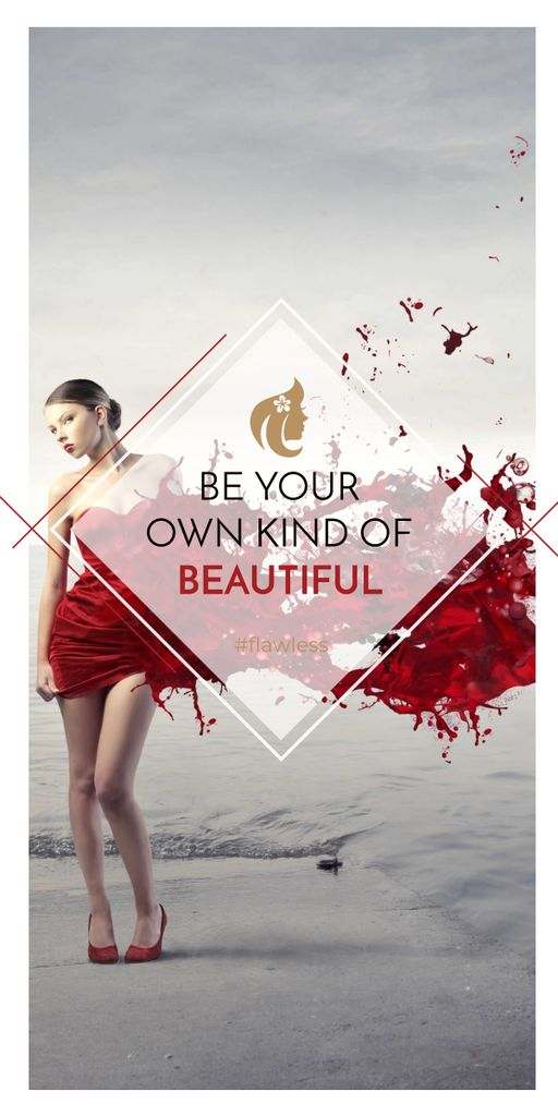 Beauty quote with Young attractive Woman — Maak een ontwerp