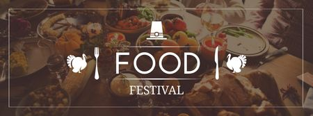 Modèle de visuel Thanksgiving Food Festival Announcement - Facebook cover