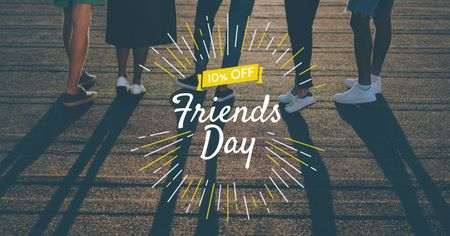 Plantilla de diseño de Best Friends Day Discount Offer Facebook AD