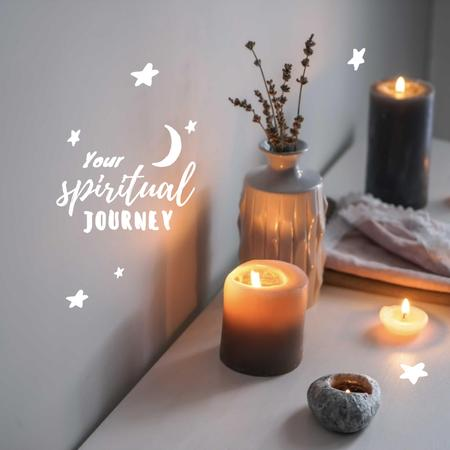 Modèle de visuel Astrological Inspiration with Cozy Candles - Instagram