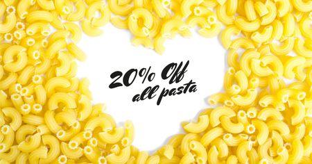 Designvorlage Homemade Italian Pasta Courses für Facebook AD