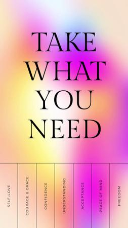 Designvorlage Inspirational List on Colorful Gradient für Instagram Video Story
