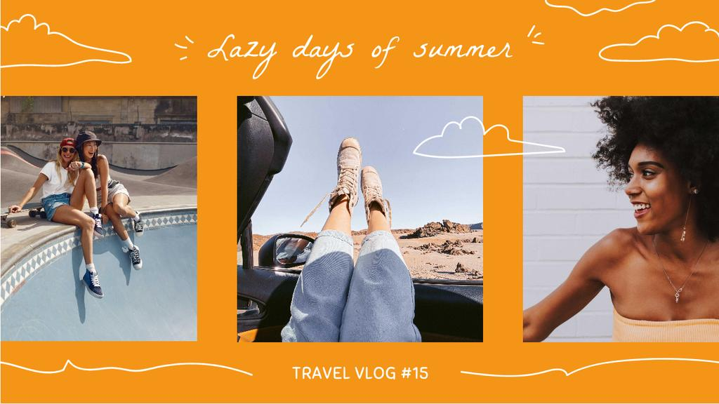 Plantilla de diseño de Summer Travelling Inspiration with Beautiful Girls Youtube Thumbnail