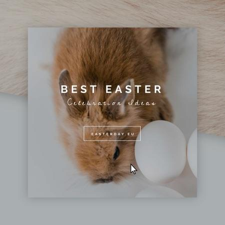 Cute bunny with Easter eggs Animated Post Modelo de Design