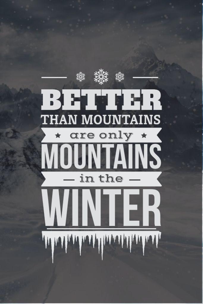 Scenic landscape with snowy Mountains — Modelo de projeto