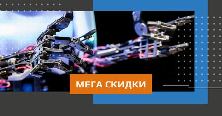 Sale Offer with Modern robotics prosthetic technology Facebook AD – шаблон для дизайна