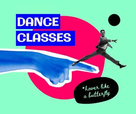 Modèle de visuel Funny Dance Classes promotion - Facebook